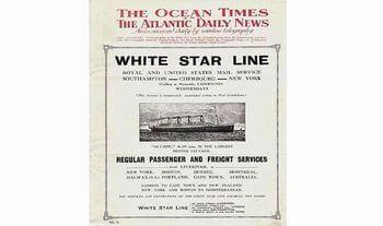タイタニック専用の新聞「日刊大西洋」があった