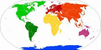 大陸の分布