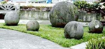 コスタリカの石球 配置