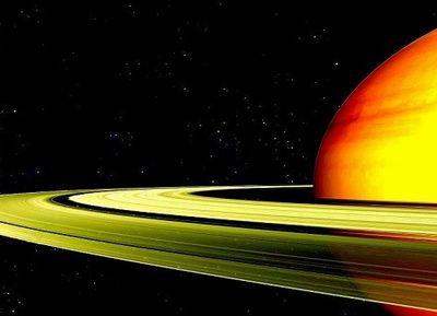 土星が高速で回転することで輪が形成されている
