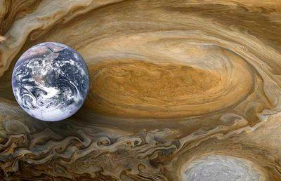 木星の台風は地球3個分