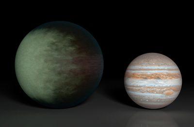発泡スチロール並みの密度の星がある