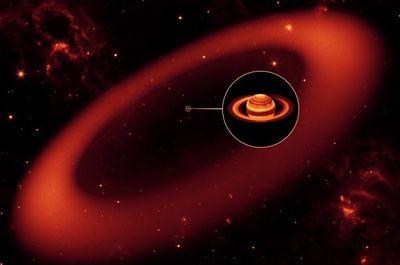 近年、新しい土星の輪が発見された