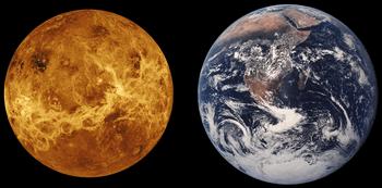 金星の大きさ