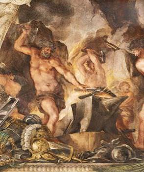 エリクトニオスの父ヘパイストス