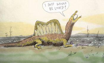 スピノサウルスの子育て