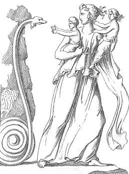 大蛇の怪物ピュトン