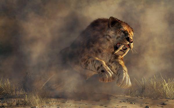 サーベルタイガーは歯が弱かった?絶滅の理由や生き残り説に迫る