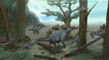ステゴサウルス 群れ