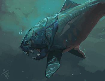ダンクルオステウス 甲冑魚