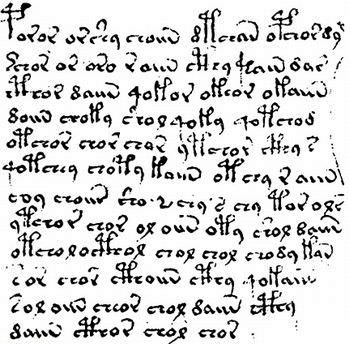 ヴォイニッチ手稿 文字