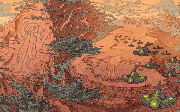 ナスカの地上絵のイラスト