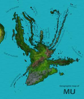 ムー大陸の場所と大きさ