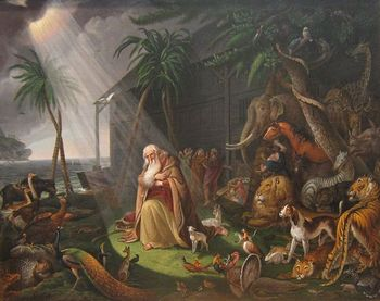 ノアの方舟に乗った動物