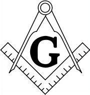 フリーメイソン 定規とコンパスのシンボル