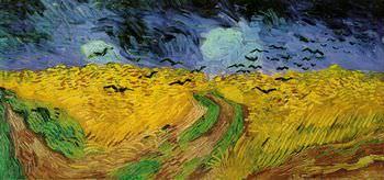 カラスのいる麦畑